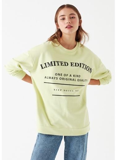 Mavi Baskılı Sweatshirt Yeşil